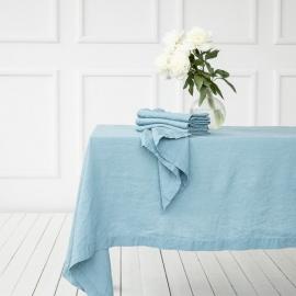 Linen Fabric Washed Stone Blue Stone Washed
