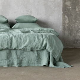 Spa Green Stone washed  Bed Linen Duvet