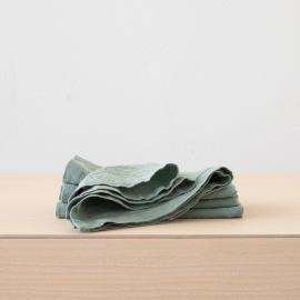 Stone Washed Spa Green Linen Napkin