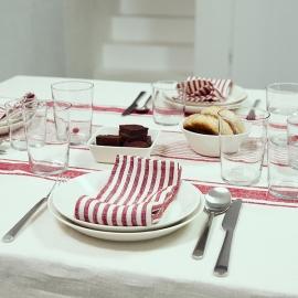Napkin Cherry Linen Brittany