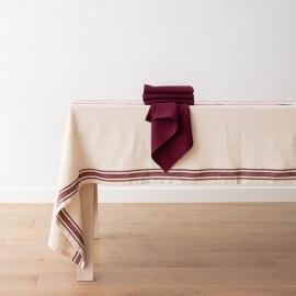 Lara Napkin Cherry Linen Washed