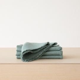 Napkin Spa Green Linen Rustic