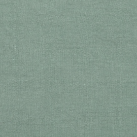 Spa Green Linen Fabric Stone Washed