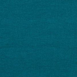 Marine Blue Linen Fabric Stone Washed