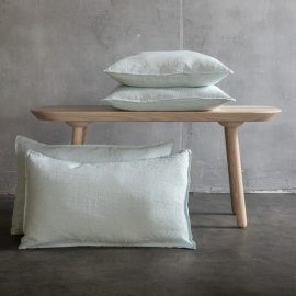 Ice Blue Linen Cushion Cover Stone Washed