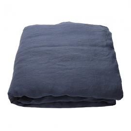 Indigo Linen Duvet Stone Washed