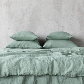 Spa Green Stone Washed Bed Linen Bed Set
