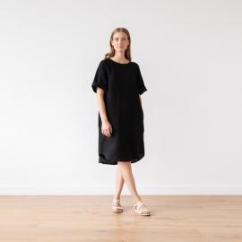 Aqua Linen Dress Luisa