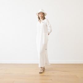 White Linen Dress Dona