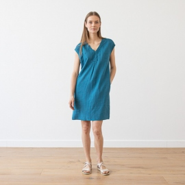 Linen Dress Indigo Emily