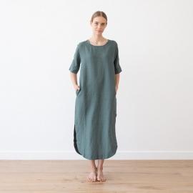 Aqua Linen Dress Nora