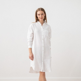 White Linen Shirt Dress Paula