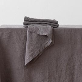 Stone Washed  Linen Napkin Steel Grey