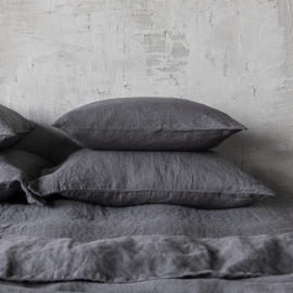 Grey Stone Washed Bed Linen Pillow Case