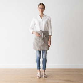 Chef's Apron Taupe Stone Washed Linen