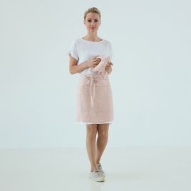 Cafe Apron Rosa Stone Washed Linen