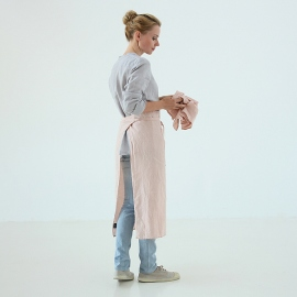Chef's Apron Rosa Stone Washed Linen