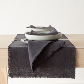 Linen Placemat Grey Rustic