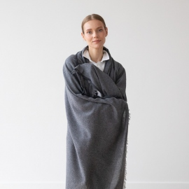 Grey Wool Shawl Salvatore