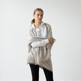 Beige Wool Shawl Salvatore