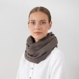 100% Super Fine Merino Wool Scarf Luciano Brown