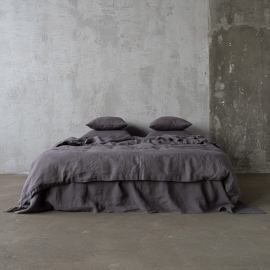 Grey Stone Washed Bed Linen Bed Set