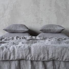 Stone Washed Herringbone Bedlinen Set Grey