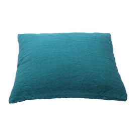 Sapphire Linen Pillow Case Stone Washed