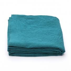 Sapphire Linen Flat Sheet Stone Washed