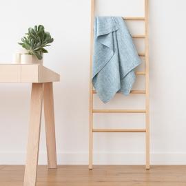 Linen Bath Towel Marine Blue Francesca