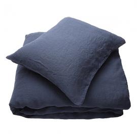 Indigo Linen Bed Set Stone Washed