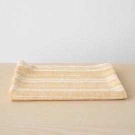 Linen Bath Towel Gold Multistripe