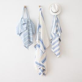 Linen Beach Towel Philippe Blue