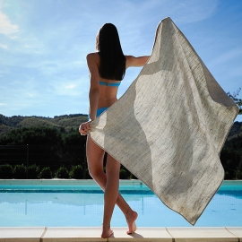 Linen Beach Towel Francesca Birch