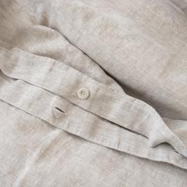 Natural Washed Bed Linen Duvet Crushed