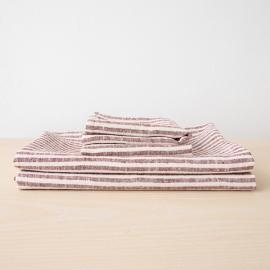 Linen Bath Towels Set Cherry Brittany