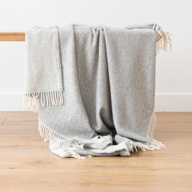 Cashmere Wool Throw Silver Ernesto