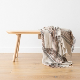 Natural Black Stripe Linen Throw Paolo