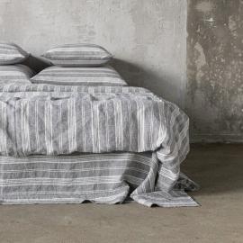 Graphite Washed Bed Linen Duvet Jazz