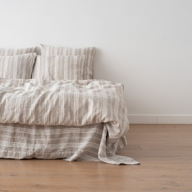 Natural Washed Bed Linen Duvet Jazz