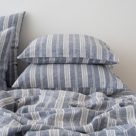 Indigo Washed Bed Linen Pillow Case Jazz