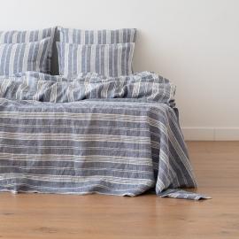 Indigo Washed Bed Linen Flat Sheet Jazz