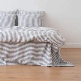 Indigo Washed Bed Linen Duvet Ticking Stripe