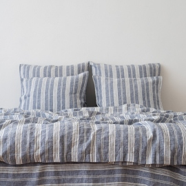 Indigo Washed Bed Linen Bed Set Jazz