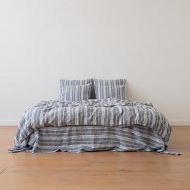 Indigo Washed Bed Linen Bed Set Jazz