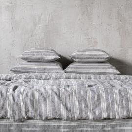 Graphite Washed Bed Linen Bed Set Jazz