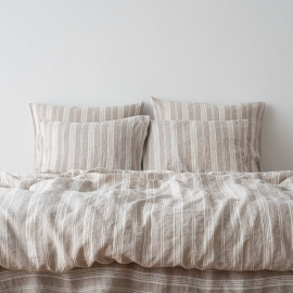 Natural Washed Bed Linen Bed Set Jazz