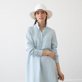 Sky Blue Melange Linen Tunic Camilla