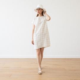 Linen Dress White Alice