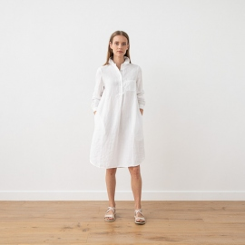 White Linen Dress Camilla